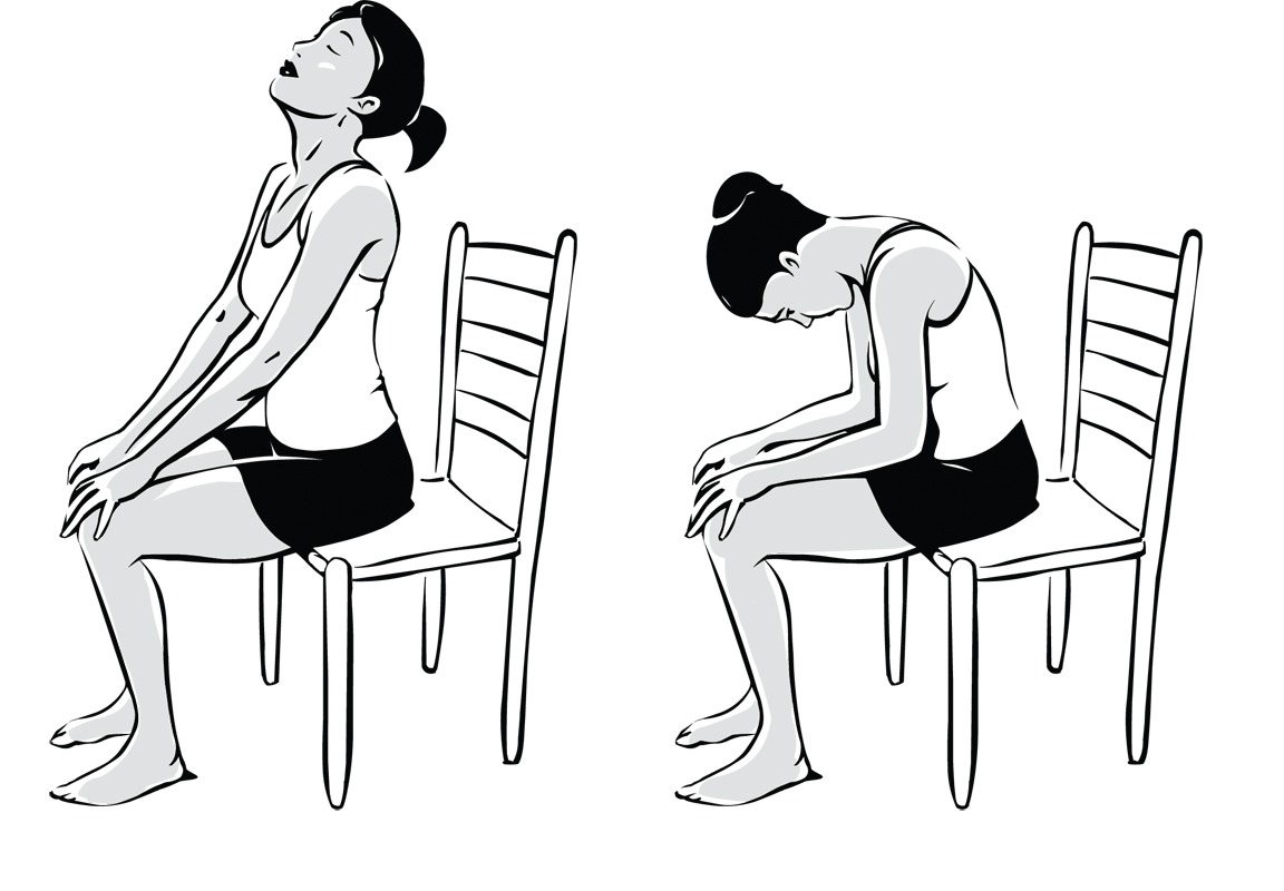Chair yoga poses - The Back Relaxer